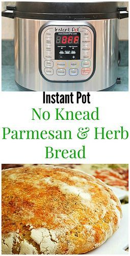 Instant Pot No Knead Parmesan & Herb Bread is foolproof every time. Customize with whatever herbs you like. Instant pot easy! | What's Cookin, Chicago?