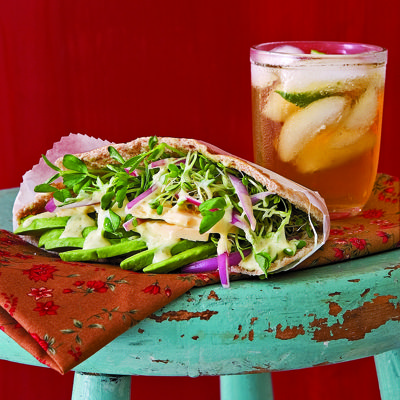 Avocado, Cheddar, and Sprouts Pockets with Tangy Lime Mayo  - CountryLiving.com