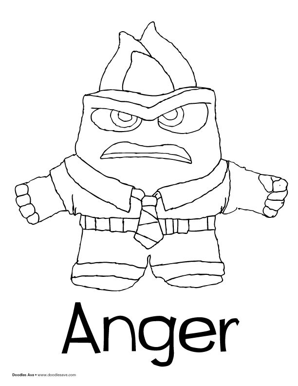 Inside Out coloring sheets! Anger! pixar inside out
