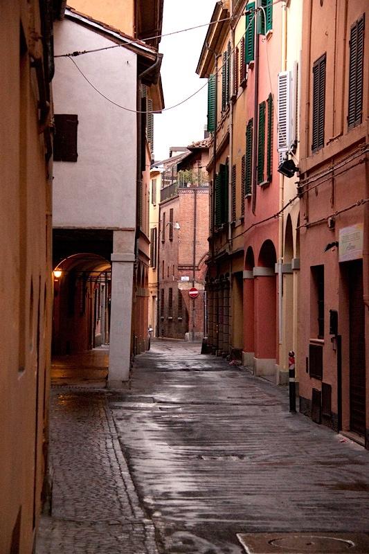 Vicolo di rosa - Bologna, Italy