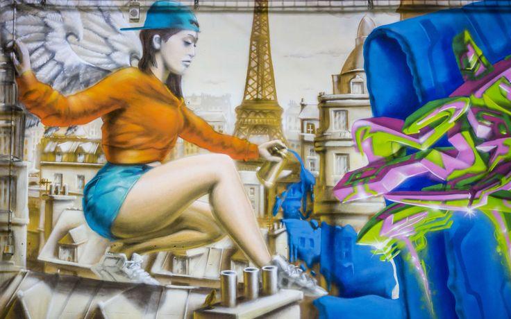 Photo prise par Corentin Bomstein pour #lincisif #parishiphop #expo #faceaumur #paris #graffiti
