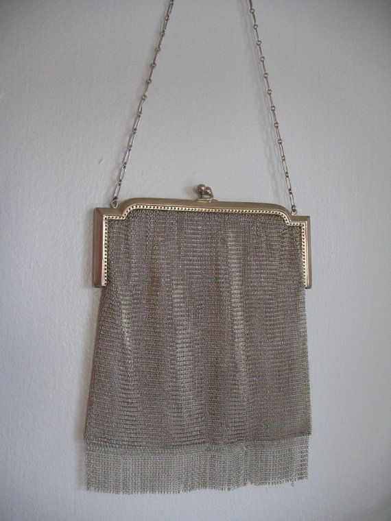 Love these vintage Whiting & Davis mesh bags....