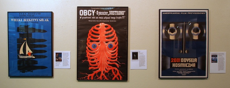 Wide Blue Road, Alien & 2001: A Space Odyssey (Polish posters)