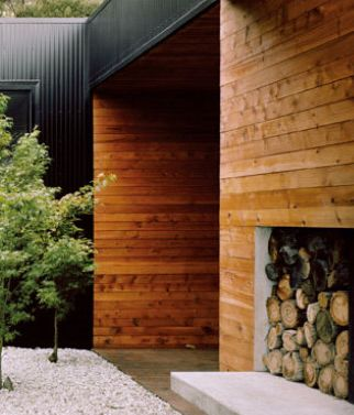 Ironstone colorbond with cedar cladding