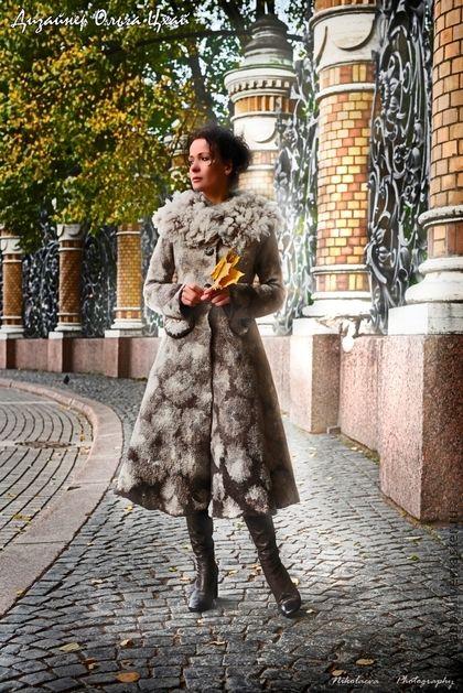 Верхняя одежда ручной работы. Ярмарка Мастеров - ручная работа Валяное пальто Любовь. Handmade.