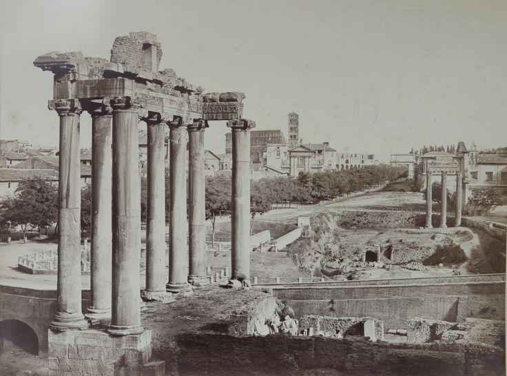 Rome, View of the Forum Romanum 1853 (ca) Salt print, coated