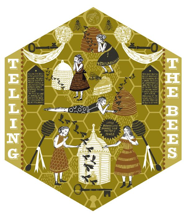 Superstitions : Alice Pattullo Illustration - Telling the Bees