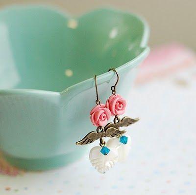 hello, whimsy.: new earrings & eos lip balms