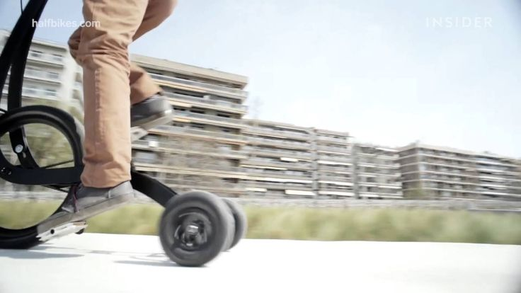This is an exercise hybrid that's never been seen before. The Halfbike combines running and biking, revolutionizing the way we get around. It's innovative de...