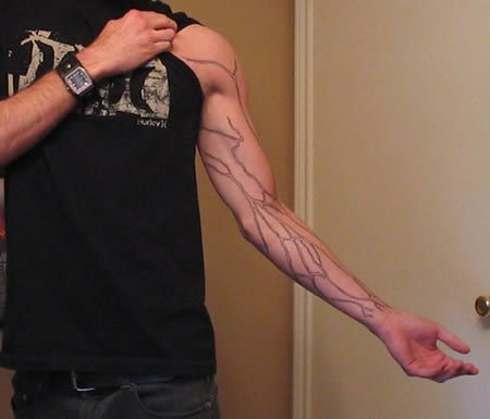 this is pretty sweet. its something called anatomical tattoo art