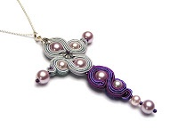 Cross-pendant in soutache