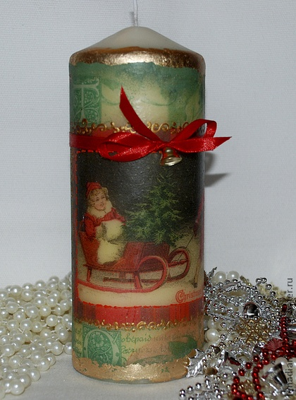 decoupage candle
