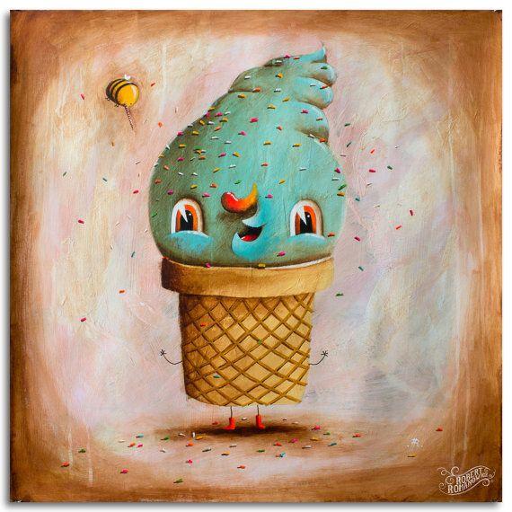 Johnny Ice Cream by RobertRomanowicz on Etsy