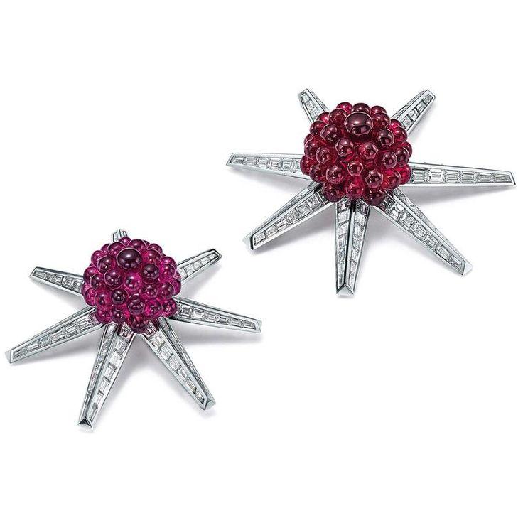 Tiffany Blue Book 2016 turmalina rosa y broches de diamante