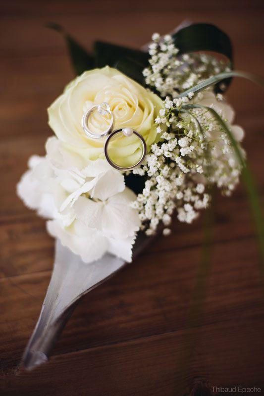 coussin à alliances original, rose, fleurs