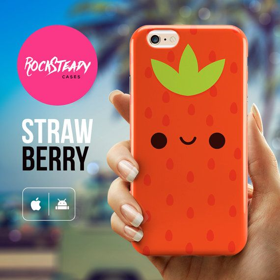 iPhone 6s case - Cute Kawaii Strawberry case for the iPhone 6s by Rock Steady Cases. (Also available for the phone models in the list below.)