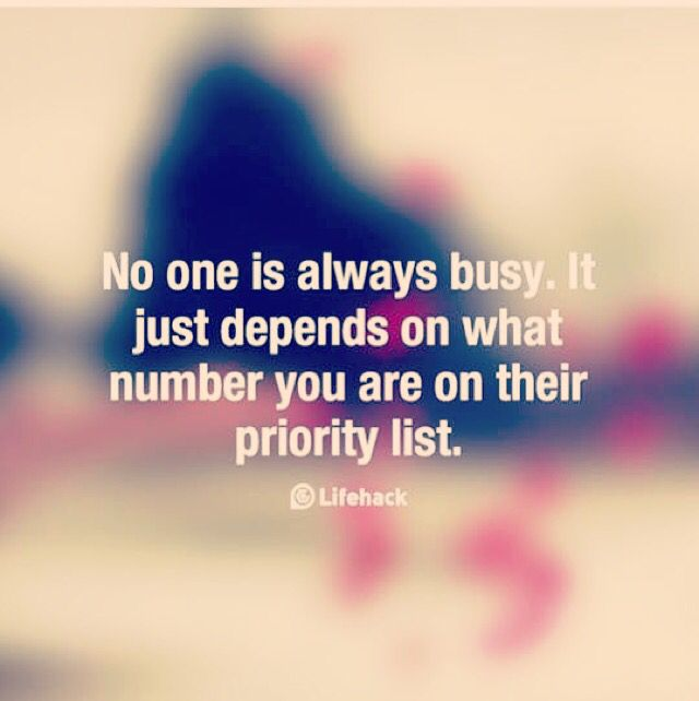 No one is too busy #quotes                                                                                                                                                                                 More