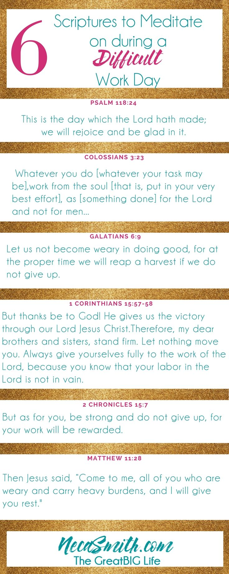 Get this free printable! The daily grind can become drudgery if you let it. Here are some scriptures that you can keep on your mind and heart at peace throughout the work day.