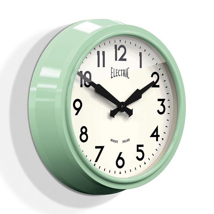 Buy Newgate Clocks 50s Electric Clock - Kettle Green | Amara