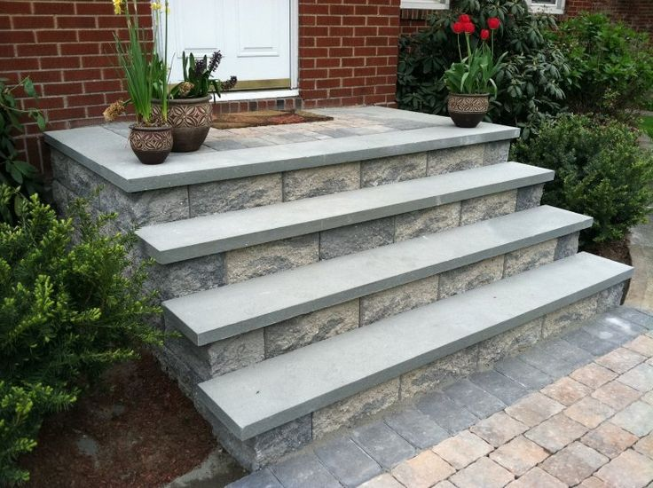 20 best images about front steps stoop on pinterest for Front door steps ideas