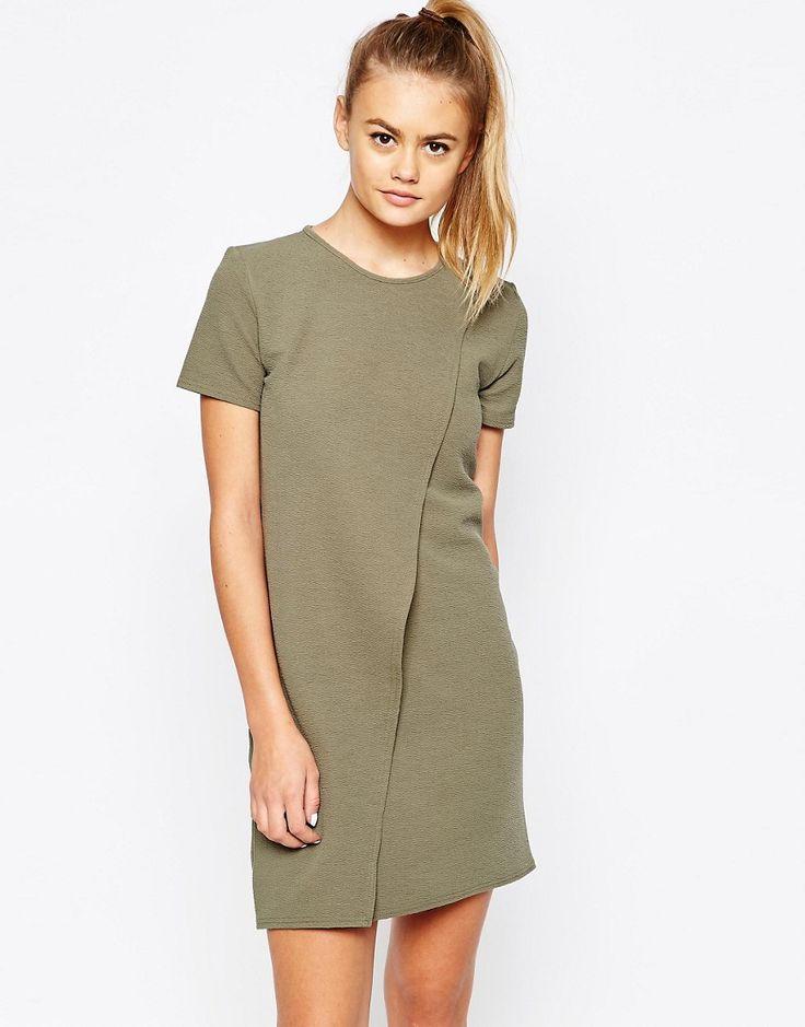 Image 1 ofDaisy Street Wrap Front Shift Dress