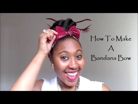 How To Make A Bandana Bow - YouTube