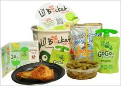 KFC Intros Li'l Bucket Kids' Meals by Karlene Lukovitz | KFC is launching Li'l Bucket Kids Meals, packaged in a kid-friendly version of KFC's adult bucket. The launch is being supported by social and other promotions.   The standard meal (suggested retail price of $3.99) includes a Kentucky Grilled Chicken drumstick, green beans, a GoGo squeeZ applesauce on the go and a Capri Sun Roarin' Water.