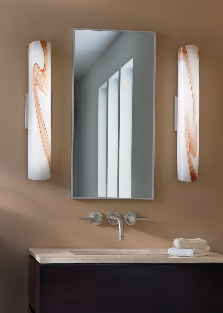 Lighting for vanity wall sconce lbl lighting mia bath opal amber sconce can be installed vertically or horizontally