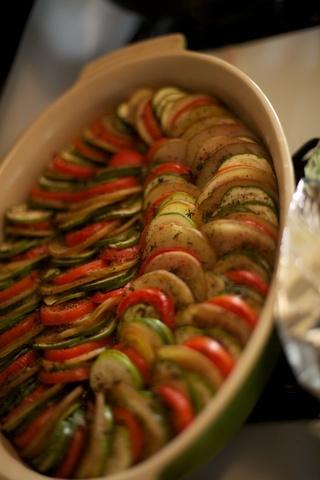 Vegetales asados al horno. Ver la receta http://www.mis-recetas.org/recetas/show/39080-vegetales-asados-al-horno