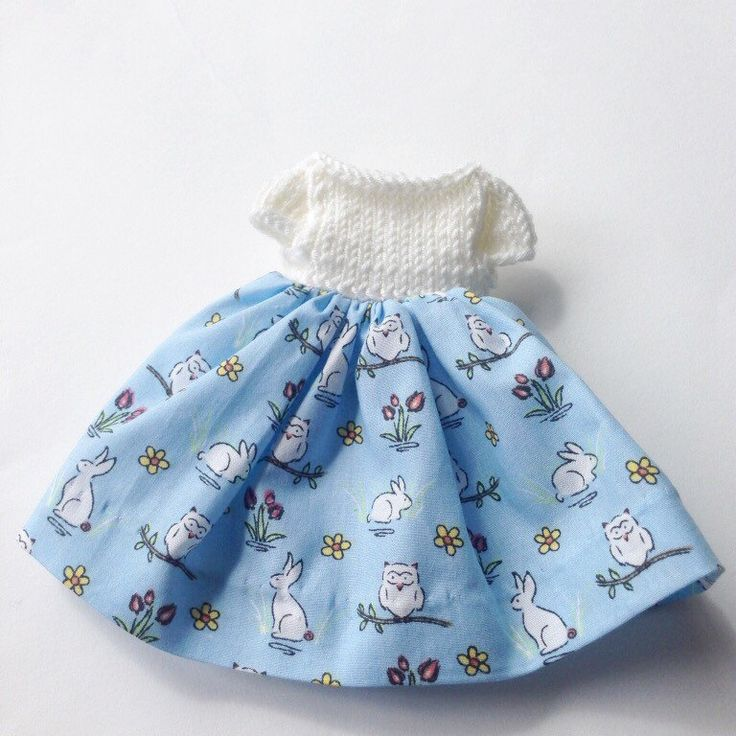 Sweet little dress which will fit little knitted Rabbits