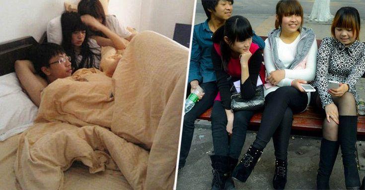En una provincia de Cantón la cantidad de varones es tan pequeña que los pocos hombres que hay suelen tener relaciones sentimentales con tres mujeres a la vez