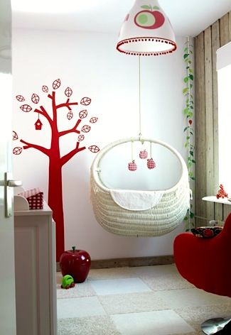 baby nursery ideas for suspended baby cradle