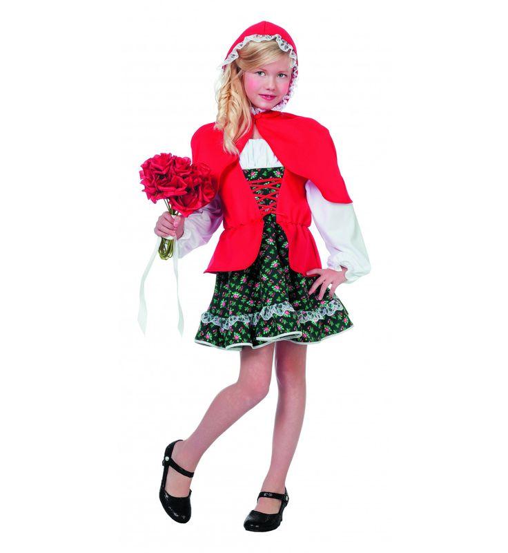 Sprookjesbos Meisje Met Rode Cape ( Luxe) Kostuum