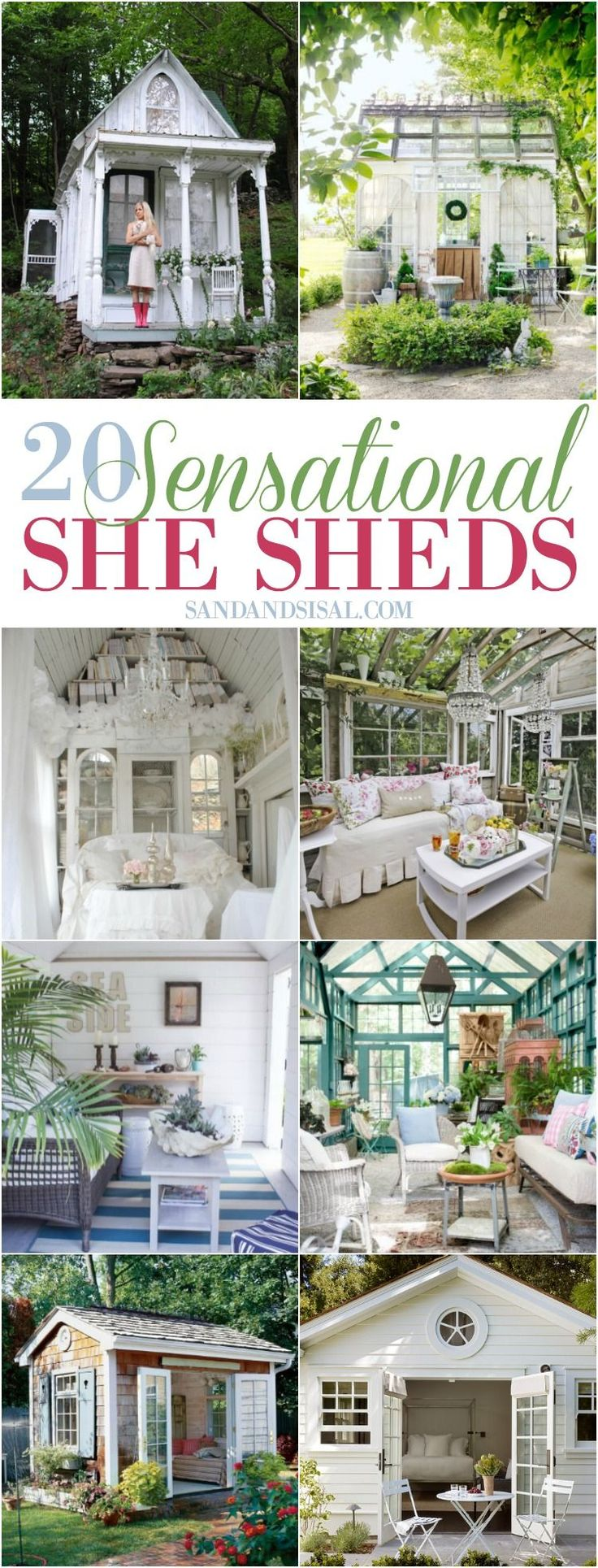20 Sensational She Shed Ideas.  If you need a little extra space for storage or a lot of extra space for an office, guest room or studio, a shed could be the perfect solution. - ad