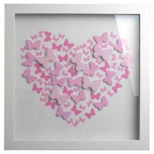 Buy Pink 3D Butterfly Box Frame from our Frames range - Tesco.com