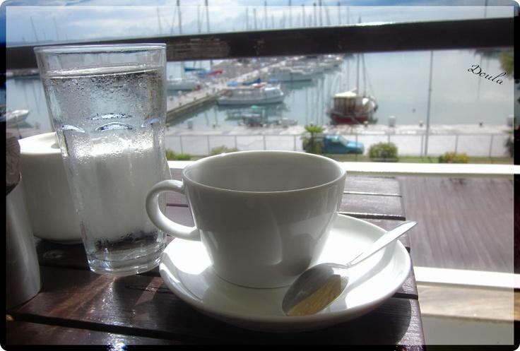 coffee with rain and sun