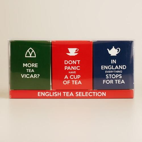 One of my favorite discoveries at WorldMarket.com: English Slogans Tea Selection, 3-Pack
