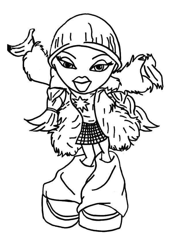 bratz colouring page - Monster High Coloring Pages Pdf