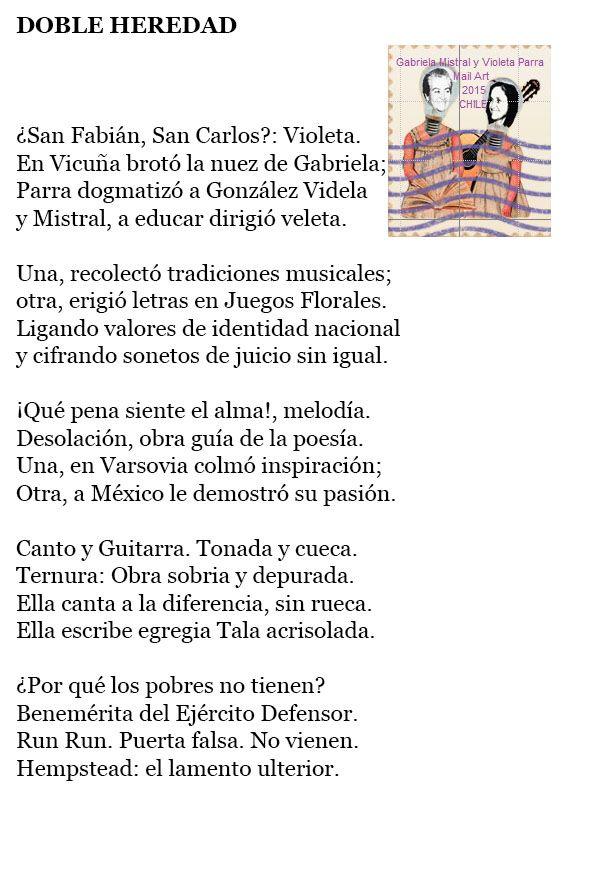 Gabriela Mistral y Violeta Parra: DOBLE HEREDAD - LUIS ANTONIO ARANDA (México)