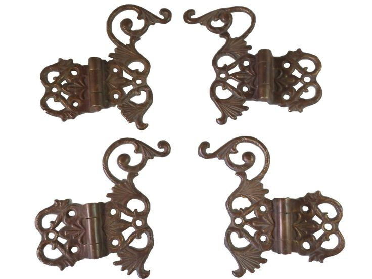 Ornate Offset Ice Box Hinges – Set of 4 – The Old Hardware Store