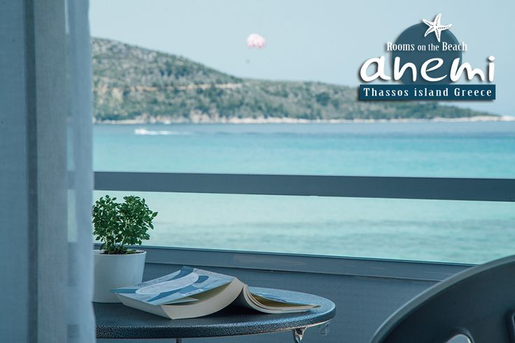 Relax on the sea view balcony of Anemi Rooms to Let on the Beach of Skala Potamias, Thasos island Greece. Tel.: +30 25930 61 480, +30 6947 589 555 E-Mail: anemithassos@gmail.com Ενοικιαζόμενα δωμάτια στην Παραλία Χρυσή Ακτή της Σκάλας Ποταμιάς, Θάσος.