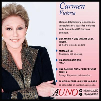 Carmen Victoria Pérez nos comenta un poco sobre las #MadresAUno