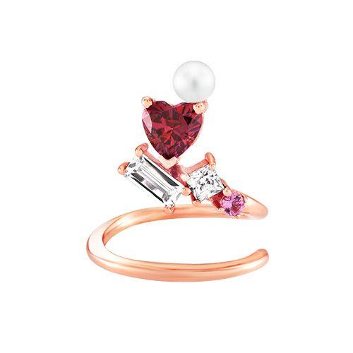 heart cubics nail ring - CLEODIA