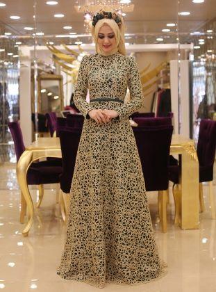 Rana Evening Dress - Emerald - Minel Ask