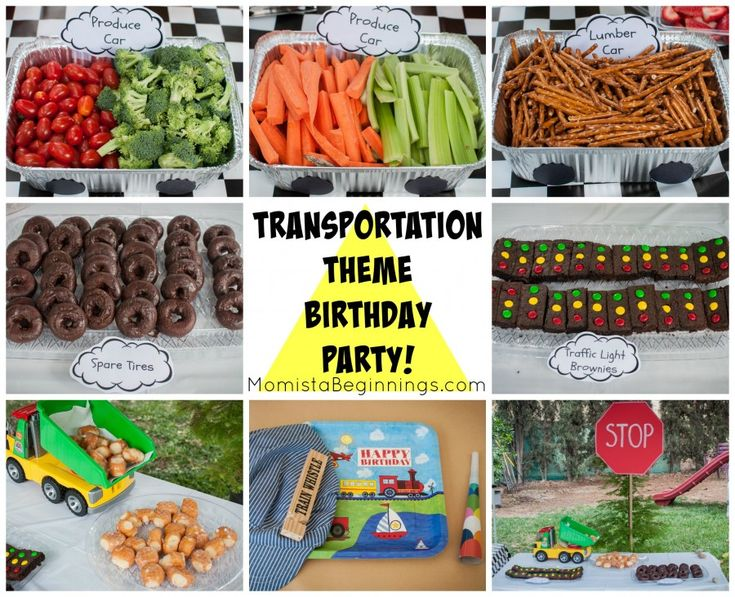 Transportation themed birthday party for boys. Great car themed  party.