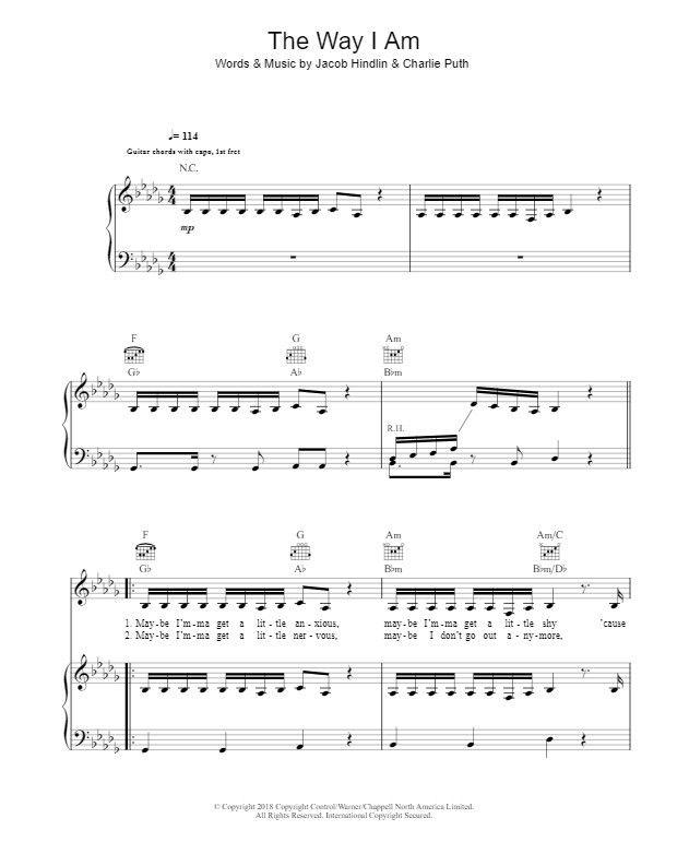 Chord piano am