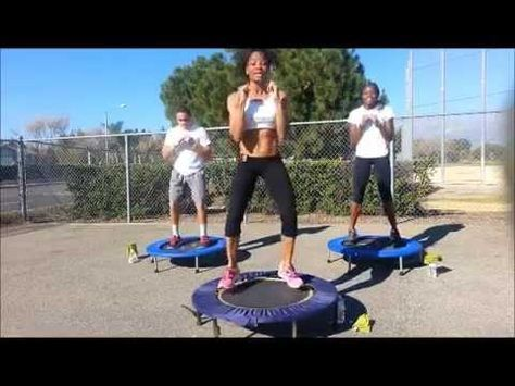 ▶ 30 minute rebounding with AChampion - YouTube   Not a HIIT workout, but is a great rebounding workout!