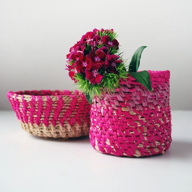 How To Weave A String Basket : How to weave your own raffia basket tutorials craft and