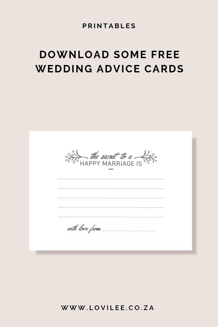 Download Your Free Wedding Advice Cards Printable Lovilee Blog Online Decor Shop Wedding Advice Cards Bridal Shower Advice Cards Bridal Shower Advice