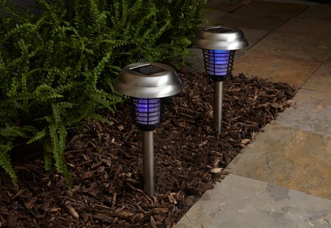 Set of 2 Solar Insect Bug Zapper Lights